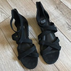 Eileen Fisher Eva strappy black gladiator Sandal 6